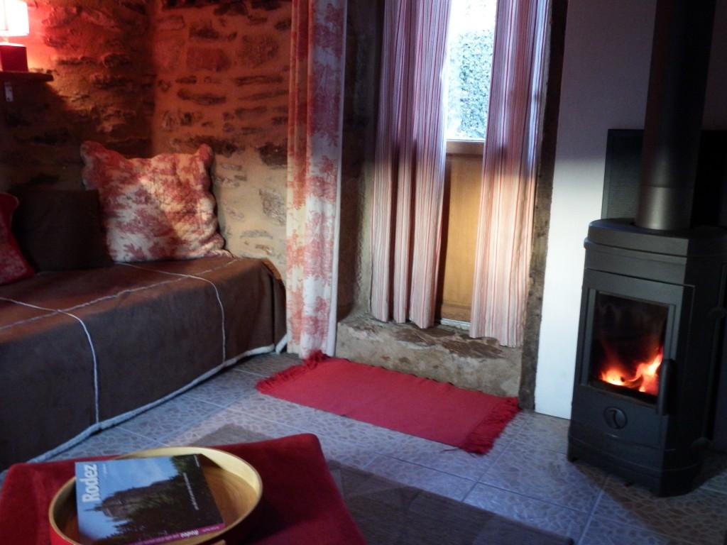 Les Grangettes Chambre Le Ponant avec poêle à bois
