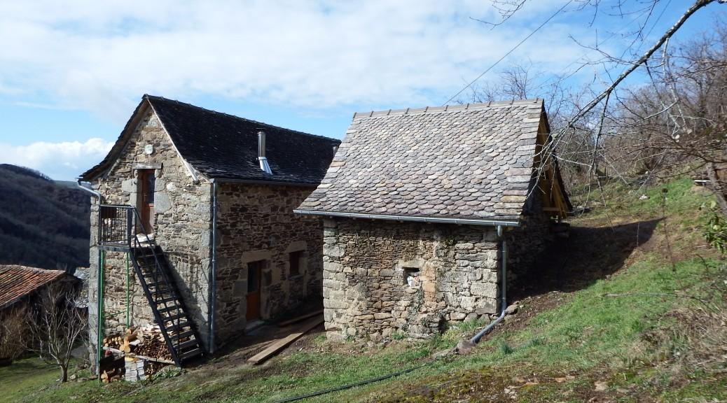 Les Grangettes chambres d'hôtes sécadou nouvelle chambre toiture en lauzes
