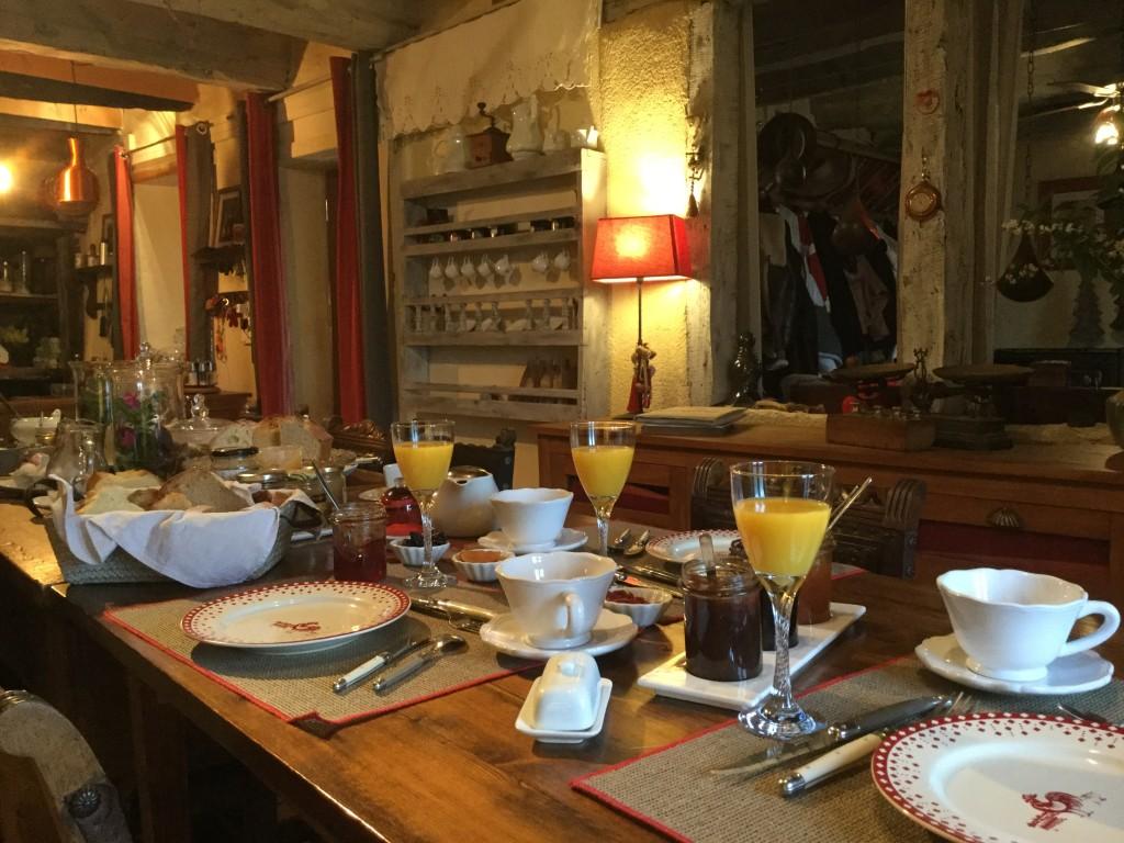Les Grangettes Petit déjeuner brunch