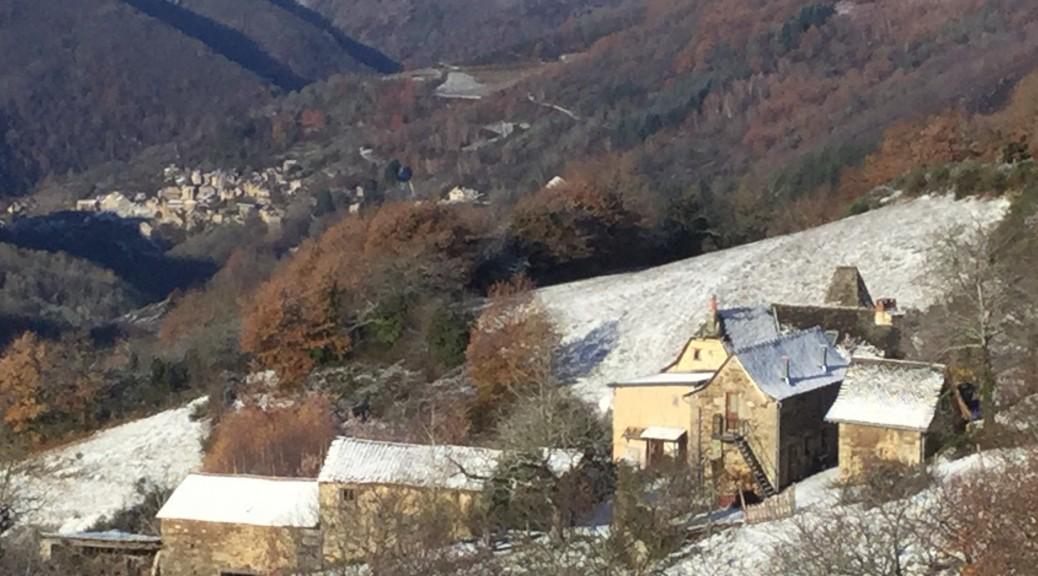 Chambres d'hôtes et Table d'hôtes à Conques, Les Grangettes en hiver