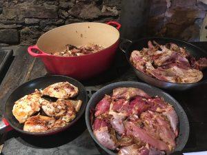 Chambres et Table d'hôtes Conques les Grangettes faisan en cocotte